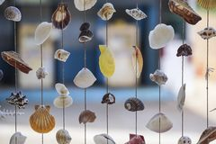 Mobile shell. Is used as a beautiful decoration Royalty Free Stock Photography
