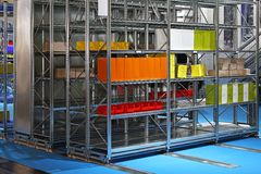 Mobile shelves storage Royalty Free Stock Photos