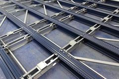 Mobile Shelving Mechanism royalty free stock photography