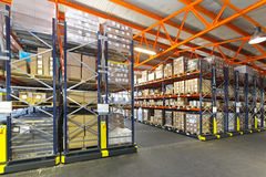 Mobile shelving system Stock Photography