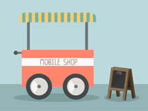 Mobile shop. With black board vector Stock Images