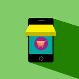 Mobile is shop  icon Royalty Free Stock Photo