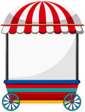 Mobile shop with red roof Stock Photography