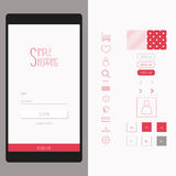 Mobile shop and smart phone login interface form Stock Photo