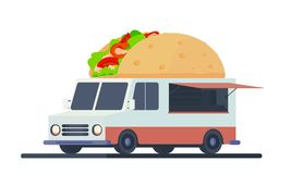Mobile shop for taco sale. vector illustration