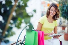 Mobile shopper Royalty Free Stock Images