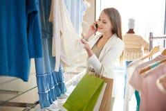 Mobile shopper Stock Photos