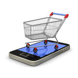 Mobile Shopping Stock Photography