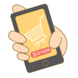 Mobile shopping Stock Photos