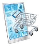 Mobile shopping app concept Royalty Free Stock Photos