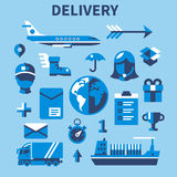 Mobile shopping communication and delivery service Stock Photos