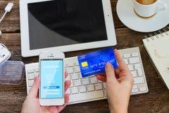 Mobile shopping concept Stock Photo