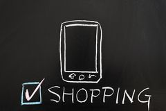 Mobile shopping concept royalty free stock photography
