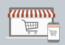 Mobile shopping concept Royalty Free Stock Image