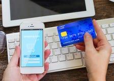 Mobile shopping concept Royalty Free Stock Photos
