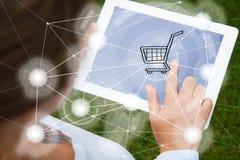 Mobile shopping concept Stock Photography