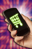 Mobile shopping Royalty Free Stock Photos