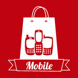 Mobile shopping Stock Image
