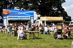 Mobile showground food stalls. Royalty Free Stock Image