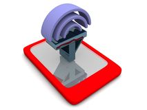 Mobile signal Stock Photo