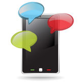 Mobile smart phone with dialog boxes Stock Image