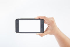 Mobile smart phone in hand 2 Stock Photography
