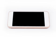 Mobile smart phone isolated on white  background Royalty Free Stock Photography