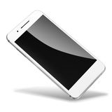 Mobile smart phone isolated on white. Royalty Free Stock Photography