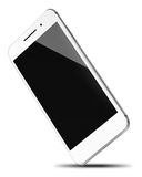 Mobile smart phone isolated on white. Mobile smart phone with black screen isolated on white background. Highly detailed illustration stock illustration
