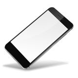 Mobile smart phone isolated on white. Mobile smart phone with blank screen isolated on white background. Highly detailed illustration royalty free illustration