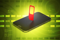 Mobile smart phone with sim-card Stock Photo