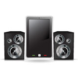 Mobile smart phone with speakers Royalty Free Stock Images