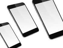 Mobile smart phones isolated on white. Stock Image