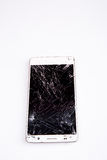 Mobile smartphone with broken screen Royalty Free Stock Photography