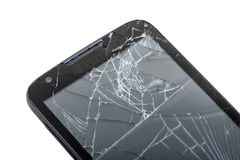 Mobile smartphone with broken screen Stock Images