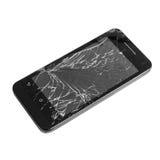 Mobile smartphone with broken screen . Stock Photo