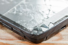 Mobile smartphone with broken screen Royalty Free Stock Images