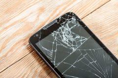 Mobile smartphone with broken screen Stock Image