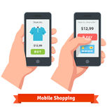 Mobile smartphone ecommerce online shopping Stock Photography