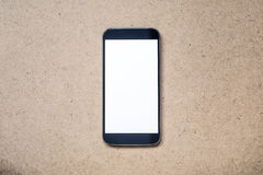Mobile Smartphone mockup with white blank screen Stock Photography
