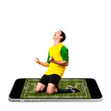 Mobile soccer Royalty Free Stock Photography