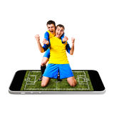 Mobile soccer Stock Photos