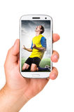 Mobile soccer Royalty Free Stock Photo