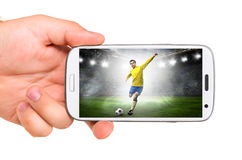 Mobile soccer Royalty Free Stock Photos
