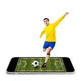 Mobile soccer Stock Image