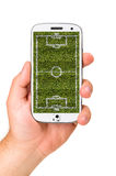 Mobile soccer Stock Photo