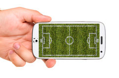 Mobile soccer Stock Images