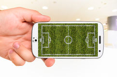 Mobile soccer Royalty Free Stock Image