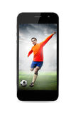 Mobile soccer Royalty Free Stock Images