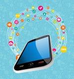 Mobile social media concept Royalty Free Stock Photos